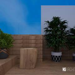 Vivienda promocional. Diseño e imagenes promocionales. : Terrazas de estilo  de Ns Architect