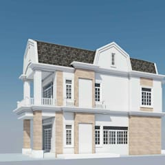 รับสร้างบ้าน:  บ้านคันทรี่ โดย LEK ARCHITECT ,