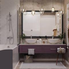 ЖК Макаровский 2: Ванные комнаты в . Автор – Проектно-строительная компания УралДеко, Эклектичный
