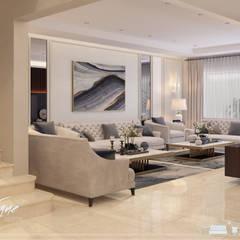فيلا خاصة:  غرفة المعيشة تنفيذ Vogue Design