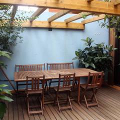 Terrace by SPACIUS, arquitectura interior, Rustic Wood Wood effect
