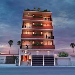 Rijtjeshuis door Amereida Arquitectos