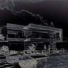 Casa Portales: Casas de campo de estilo  por MIRAVELA