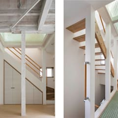 Escaleras de estilo  por 株式会社小木野貴光アトリエ 級建築士事務所