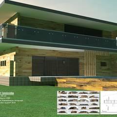 Современный дом из бруса UWB: Tерраса в . Автор – Ecoles System