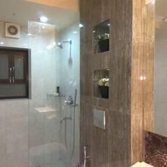 GUEST HOUSE TOILETS:  Bathroom by Rashi Agarwal Designs,Modern Tiles