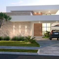 Conjunto residencial de estilo  por ANDREIA SCHWEIG STUDIO ARQUITETURA