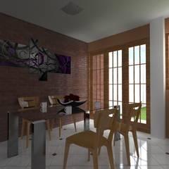 Casa pequeña : Comedores de estilo  por ARDI Arquitectura y servicios