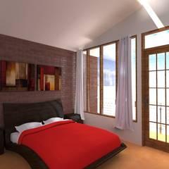 Casa pequeña : Dormitorios de estilo  por ARDI Arquitectura y servicios