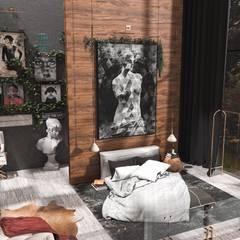 Interıart Factory – 3d iç mekan tasarımları:  tarz Yatak Odası, Eklektik