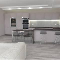 مطبخ ذو قطع مدمجة تنفيذ Frosio Arredamenti snc di Roberto & C.