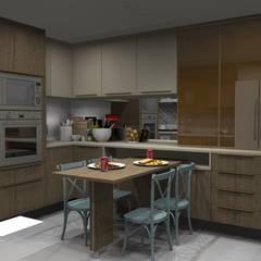 Ana Adriano Design de Interiores Unit dapur MDF Wood effect