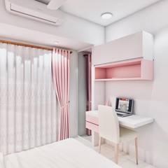 غرف نوم صغيرة تنفيذ The 7th Corner - Interior Designer