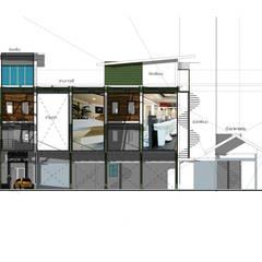 Project : งานออกแบบอาคารพานิชย์:  บ้านและที่อยู่อาศัย โดย Hip and Classic Design Studio, ผสมผสาน