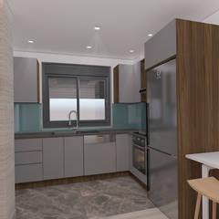 ASN İç Mimarlık  – 3 tip mutfağa sahip binanın 1. tipi :  tarz Küçük Mutfak
