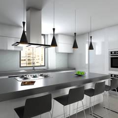Remodelacion Apto Santa Rosa de Lima: Cocinas equipadas de estilo  por Proyectos C&H C.A,