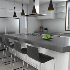 Remodelacion Apto Santa Rosa de Lima: Cocinas de estilo  por Proyectos C&H C.A, Moderno