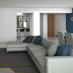 Remodelacion Apto Santa Rosa de Lima: Salas / recibidores de estilo  por Proyectos C&H C.A,