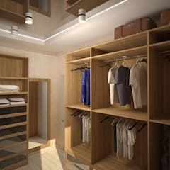 غرفة الملابس تنفيذ Дизайнер Темненко Ольга