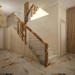 Лестничная зона утвержденный вариант: Лестницы в . Автор – Дизайнер Темненко Ольга, Модерн