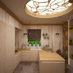 Кухня с легким модерном: Встроенные кухни в . Автор – Дизайнер Темненко Ольга