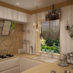 Кухня с легким модерном: Кухонные блоки в . Автор – Дизайнер Темненко Ольга,