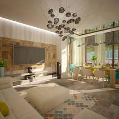 Гостинная: Столовые комнаты в . Автор – Дизайнер Темненко Ольга