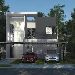 proyecto arquitectonico en cancun: Oficinas y tiendas de estilo  por  Villarreal Arquitectos y Urbanistas Asociados S.C.