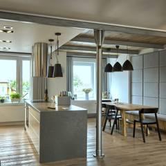 TOTALNY REMONT: styl , w kategorii Kuchnia zaprojektowany przez Grzegorz Popiołek Projektowanie Wnętrz