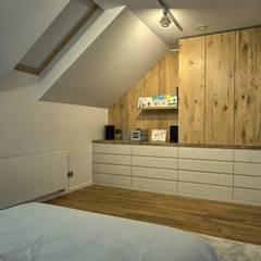 Sypialnia: styl , w kategorii Sypialnia zaprojektowany przez Grzegorz Popiołek Projektowanie Wnętrz