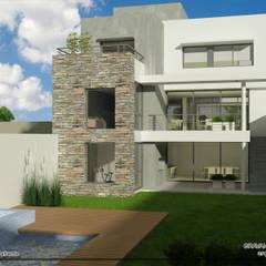 VIVIENDA UNIFAMILIAR: Casas unifamiliares de estilo  por viviendas de autor