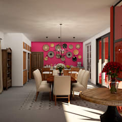 Dining room by Citlali Villarreal Interiorismo & Diseño