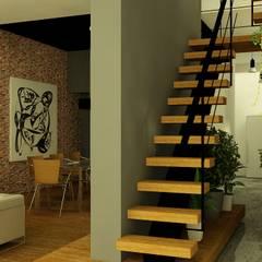 CASA LASERRE - RECICLAJE Y AMPLIACION DE VIVIENDA ANTIGUA de viviendas de autor Moderno Hierro/Acero