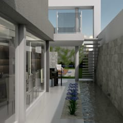 Estanques de jardín de estilo  por viviendas de autor
