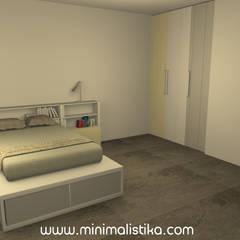Dormitorio Juveniles e Infantiles: Dormitorios infantiles de estilo  por Minimalistika.com