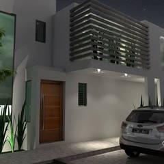Casas pequeñas de estilo  por A&E Diseño Arquitectonico