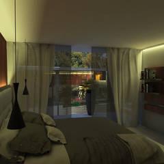 Quinta la Trinidad: Cuartos de estilo  por Proyectos C&H C.A, Moderno