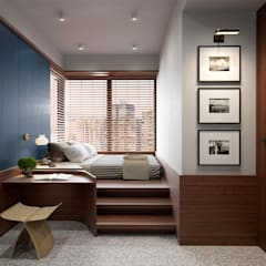 Eclectic style bedroom by POCKET SQUARE LTD Eclectic