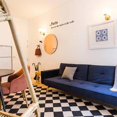 Sala - Janelas de S. Bento, Porto - SHI Studio Interior Design: Salas de estar  por SHI Studio, Sheila Moura Azevedo Interior Design
