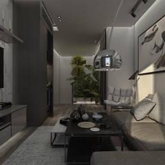 :  غرفة المعيشة تنفيذ STUDIO PARADIGM, حداثي