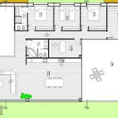 Habitação em banda: Cozinhas  por Reprojeta