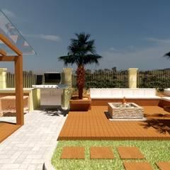 Vườn theo Abitarte - Arquitetura e Interiores, Mộc mạc