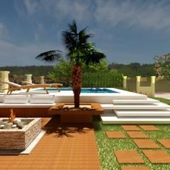 Kolam Renang Gaya Rustic Oleh Abitarte - Arquitetura e Interiores Rustic