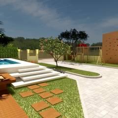 러스틱스타일 수영장 by Abitarte - Arquitetura e Interiores 러스틱 (Rustic)