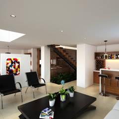 Proyecto de visualización Casa -Condominio Filadelfia (Ibagué - Tolima): Salas de estilo  por Taller 3M Arquitectura & Construcción