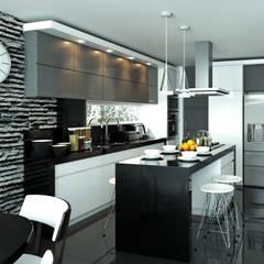 آشپزخانه توسطTaller 3M Arquitectura & Construcción, اکلکتیک (ادغامی) سرامیک