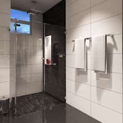 حمام تنفيذ Taller 3M Arquitectura & Construcción, إنتقائي سيراميك