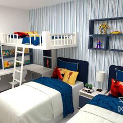 ห้องนอนเด็กชาย by Rafaela Longhi Arquitetura e Interiores