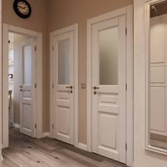 Koridor dan lorong oleh Студия дизайна и ремонта КВАДРАТ, Mediteran