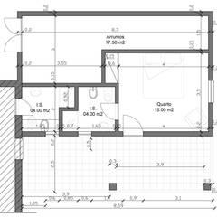 Remodelação e Ampliação de Moradia, Odemira: Quartos  por darq - arquitectura, design, 3D